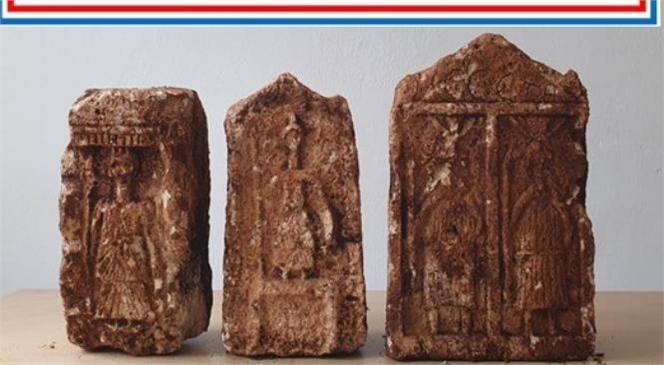 Mersin'de Tarihi Eser Kaçakçılığı İle Mücadele Devam Ediyor: 3 Adet Kabartmalı Taş Ele Geçirildi