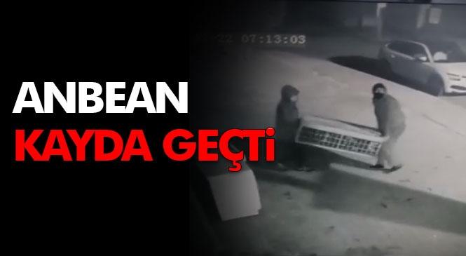 Mersin'de Yaşanan Hırsızlık Olayında Hırsızlar, Bir İşyerinden Klima Ünitesini Böyle Götürmüş!
