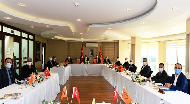 Mersin Valisi Ali İhsan Su, Mersin - Tarsus OSB Müteşebbis Heyet Toplantısına Başkanlık Etti