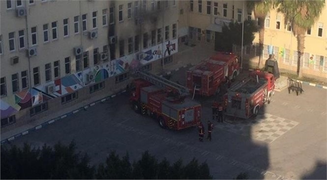 Mersin Mezitli'de Okul Yangını!
