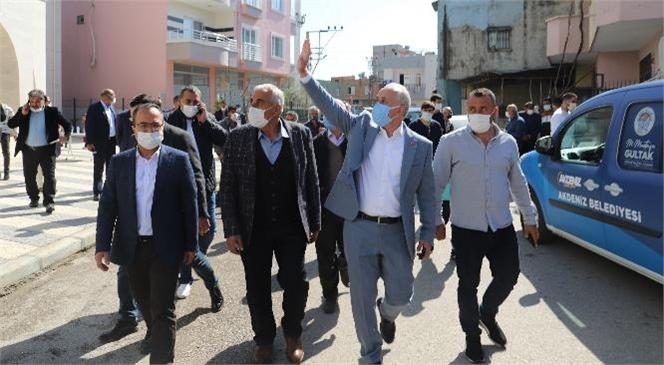 Akdeniz Belediye Başkanı Gültak, Yeşilçimen Mahallesini Ziyaret Etti
