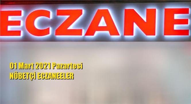 Mersin Nöbetçi Eczaneler 01 Mart 2021 Pazartesi