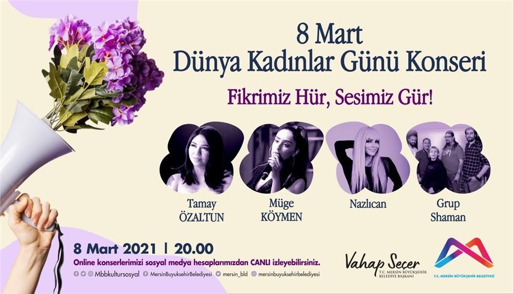 8 Mart'ta Kadın Solistler Sahnede Yerini Alacak! Tıp Bayramı'nda Mersin'deki Tüm Şarkılar Pandemi Savaşçıları İçin!
