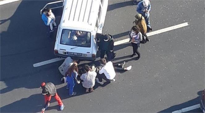 Otomobilin Çarptığı Yaya Hastaneye Kaldırıldı