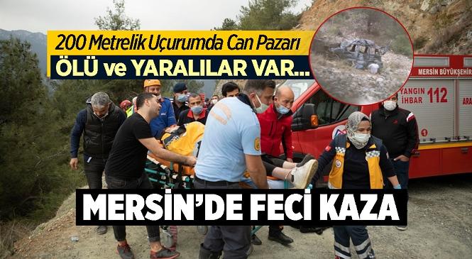 Mersin'in Yenişehir İlçesi Çukurkeşlik Mahallesi Kanyon Mevkiinde Araç Uçuruma Yuvarlandı