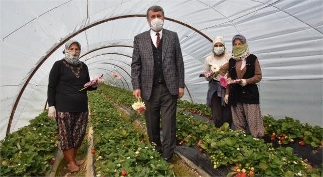 Başkan Kılınç, Kadınları İş Yerlerinde Ziyaret Etti