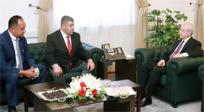 CHP Mezitli İlçe Başkanı Ahmet Serkan Tuncer ve Mezitli Mahalle Muhtarlarından TBMM Ziyareti