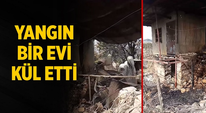 Mersin'in Tarsus İlçesi Çukurbağ Mahallesinde Çıkan Yangında Hikmet Çırak'a Ait Ev Kullanılamaz Hale Geldi