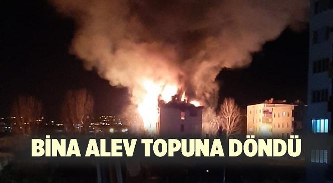 Mersin'in Erdemli İlçesi Arpaçbahşiş Mahallesinde Yangın