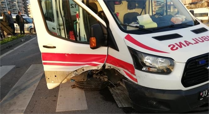 Hasta Götüren Ambulans İle Otomobil Çarpıştı; Yaralılar Var
