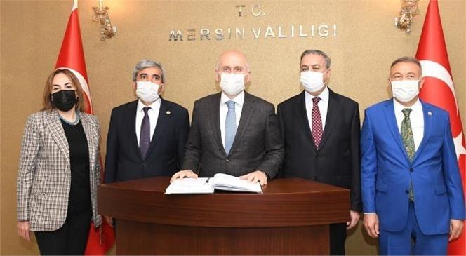 Ulaştırma ve Altyapı Bakanı Adil Karaismailoğlu'ndan Vali Su'ya Ziyaret