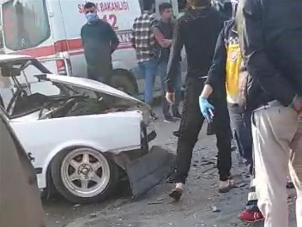 Sokağa Çıkma Kısıtlamasında Zincirleme Trafik Kazası
