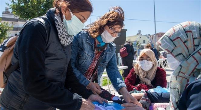 """Mersin'de Uygulanan """"Evimiz Atölye"""" Projesi Kadınlara Güç Verdi! Kadınlar İçin Artık Her Ev Bir Atölye, Her Çorap Bir Oyuncak"""