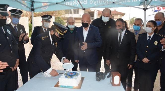 Tarsus Gazeteciler Cemiyetinden Polislere Pastalı Kutlama