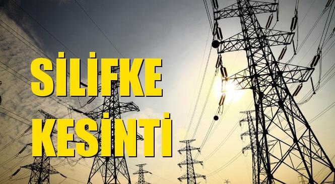 Silifke Elektrik Kesintisi 13 Nisan Salı