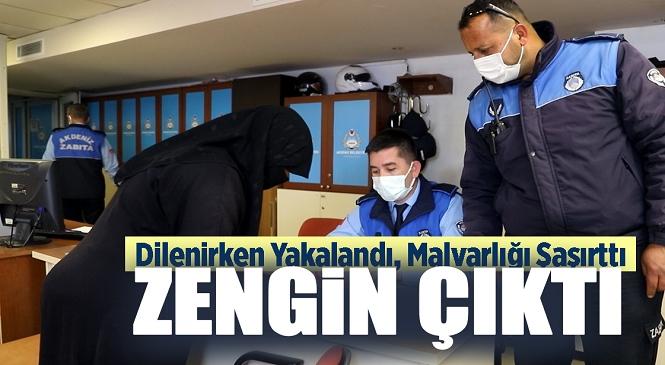 Mersin'de Dilenirken Yakalanan Kadının Malvarlığı 'Kabarık' Çıktı