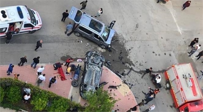 Mersin'de Eski Mezitli'de Meydana Gelen Kazada Ortalık Savaş Alanına Döndü