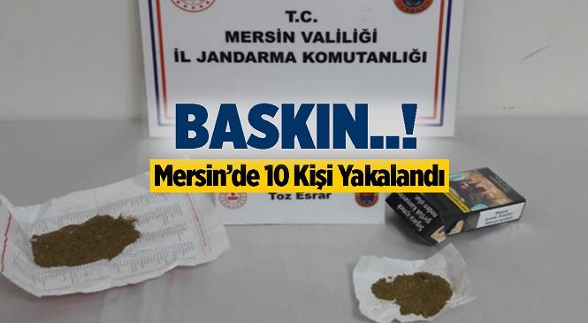 Tarsus, Erdemli ve Silifke İlçelerinde Uyuşturucu Operasyonu, 10 Kişi Yakalandı