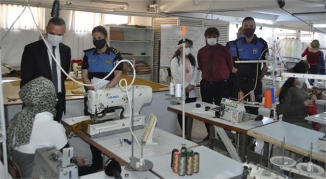 Mersin Emniyeti Koordinesinde Bir Damla İyilik Projesi Kapsamında Kadınlara İstihdam Sağlayacak Kurs Açıldı