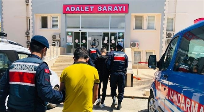 Mersin Anamur'da Evlere Girerek Hırsızlık Yapan 4 Şüpheli Şahıs Jandarma Ekipleri Tarafından Yakalandı