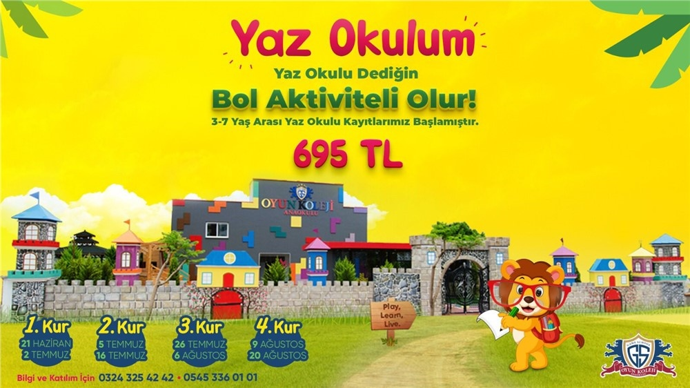 Mersin'in İlk ve Tek Sanat - Spor Yaz Okulu: Oyun Koleji