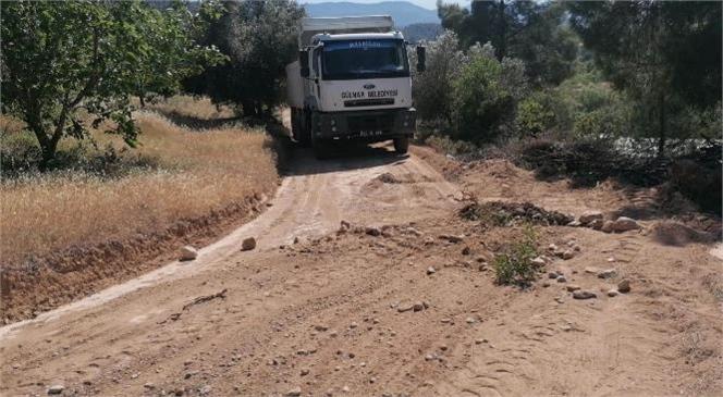 Gülnar Belediyesi, Tarım Alanlarına Giden Yollardaki Düzenleme Faaliyetleriyle de Üreticilerin Yüzünü Güldürüyor