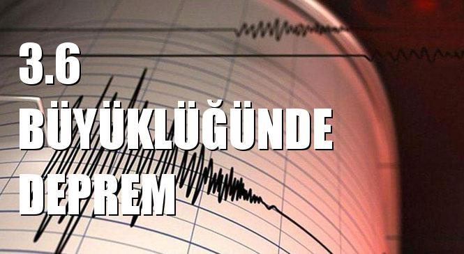 Merkez Üssü KELER-MENDERES (İzmir) olan 3.6 Büyüklüğünde Deprem Meydana Geldi