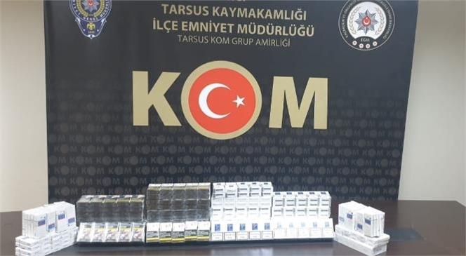 Mersin Tarsus'ta Kaçak Sigara Baskını