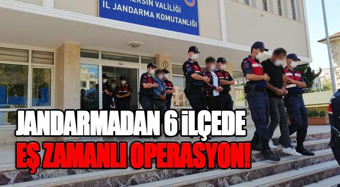 Jandarmadan PKK/KCK/YPG Operasyonu! Mersin'in 6 İlçesinde Silahlı Terör Örgütüne Yönelik Operasyonda 10 Gözaltı