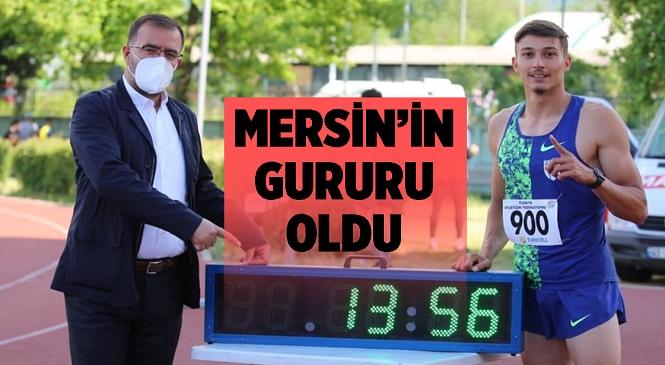 Mersinli Atlet Mikdat'tan Büyük Başarı, Kendi Rekorunu Geliştirdi