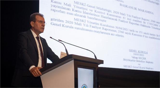 Başkan Vahap Seçer, MESKİ'nin Denetçi Raporunu Değerlendirdi