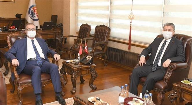 Osmaniye Valisi Yılmaz'dan Vali Ali İhsan Su'ya Ziyaret