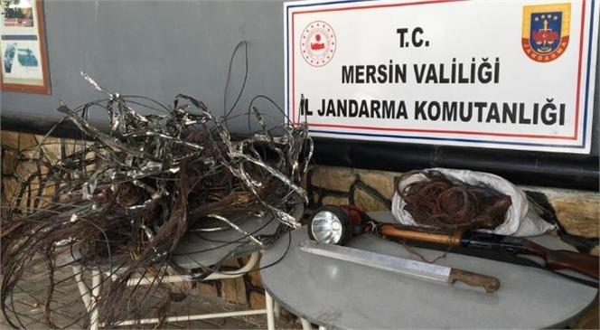 Mersin'in Gülnar İlçesinde Kablo Hırsızlığı Şüphelisi 2 Kişi Yakalandı