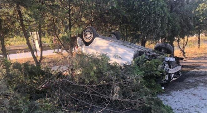 Mersin Tarsus'ta Orta Refüje Çıkan Araçta Uzman Çavuşun Eşi Ağır Yaralandı