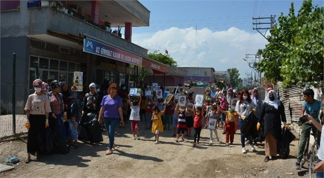 Mersin Büyükşehir'in Kadın ve Oyun Atölyesinden Çevre Günü Etkinliği