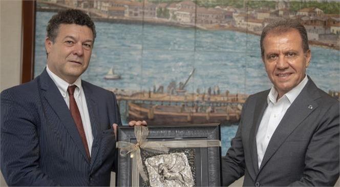 Bm Mülteciler Yüksek Komiserliği Türkiye Temsilcisi Philippe Leclerc, Başkan Seçer İle Bir Araya Geldi