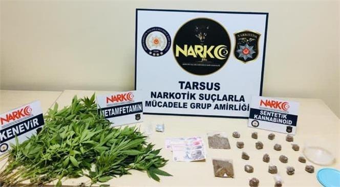 Mersin Tarsus'ta Uyuşturucu Ticareti Yapan 5 Şüpheli Şahıs Tutuklandı