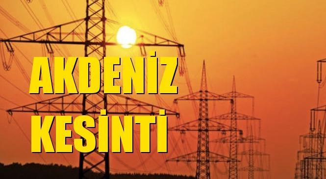 Akdeniz Elektrik Kesintisi 15 Haziran Salı