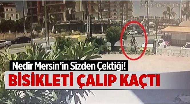 Mersin'de Pes Dedirten Bisiklet Hırsızlığı Güvenlik Kamerasına Yansıdı