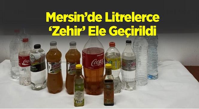 Mersin'in Silifke İlçesinde Kaçak Alkol Operasyonu! Kullanıma Hazır Litrelerce Alkol Ele Geçirildi