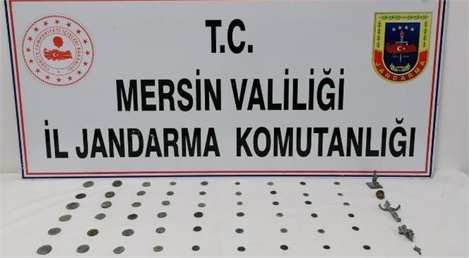 Mersin Yenişehir'de Roma ve Bizans Dönemine Ait Heykelcik, Kolye Ucu, Yüzük ve Sikke Ele Geçirildi