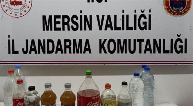 Mersin Silifke'de Kaçak Alkol İmalatı Yapılan Eve Baskın