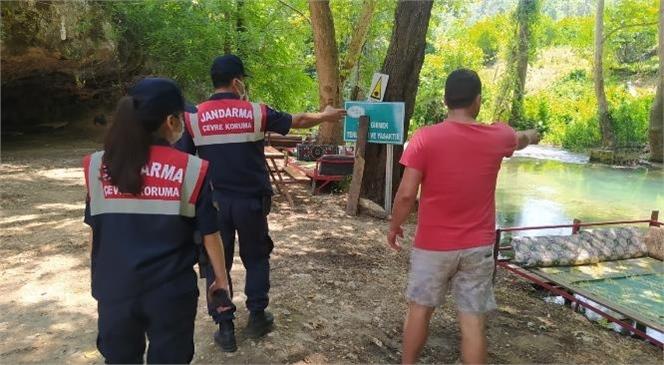 Mersin'de Piknik ve Mesire Alanları Jandarma Ekiplerince Denetlendi