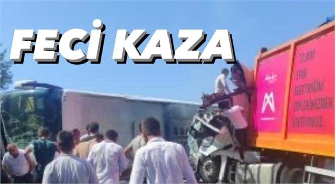 Mersin'de Otobüs Kazası! Aydıncık - Bozyazı Arasında Otobüs, TIR İle Çarpıştı: Çok Sayıda Yaralı Var