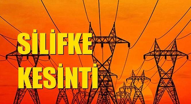 Silifke Elektrik Kesintisi 01 Temmuz Perşembe