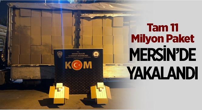 Mersin'de Bandrolü Bulunmayan 11 Milyon Makaron Yakalandı! Gözaltına Alınan 2 Zanlı Tutuklandı