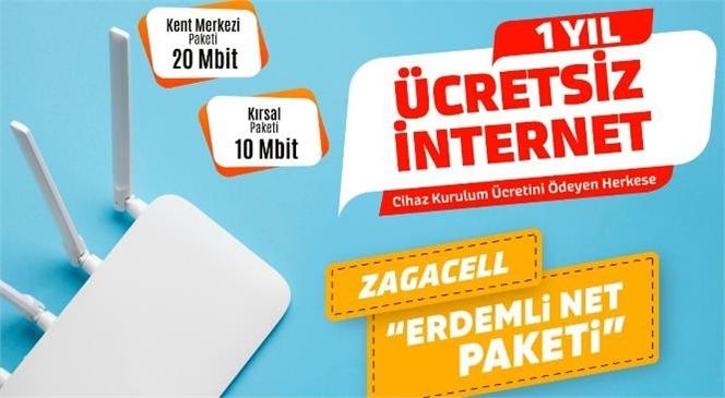Zagacell'den Erdemli'ye Bir Yıl Ücretsiz İnternet Paketi
