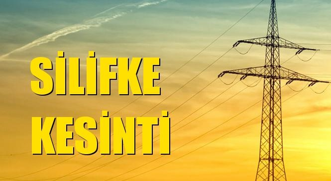 Silifke Elektrik Kesintisi 08 Temmuz Perşembe