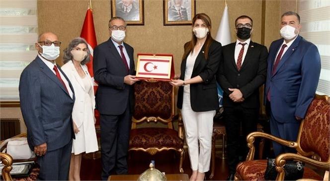 Kuzey Kıbrıs Türk Cumhuriyeti Mersin Başkonsolosu Zalihe Mendeli Vali Ali İhsan Su'yu Makamında Ziyaret Etti