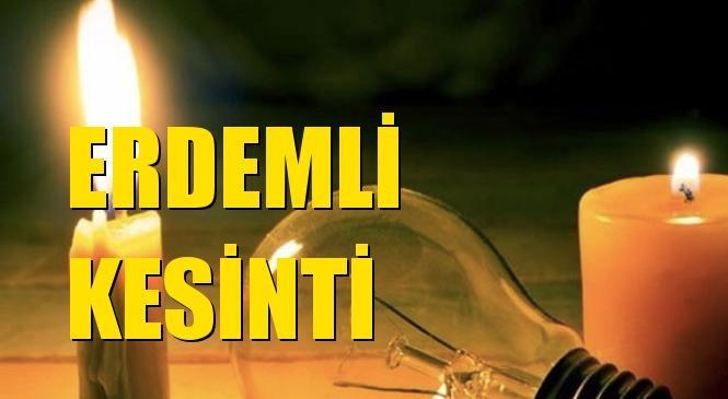 Erdemli Elektrik Kesintisi 09 Temmuz Cuma